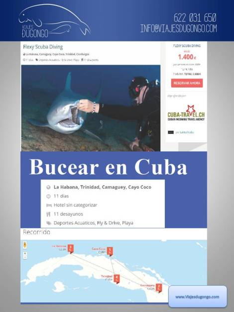Buceo en Cuba con Flexu scuba diving