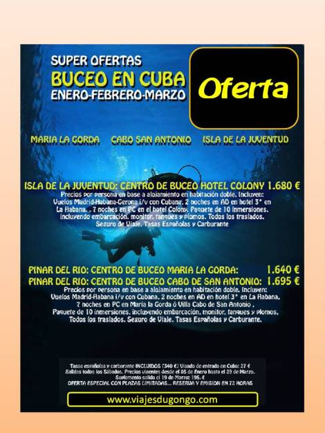 Buceo en Cuba,