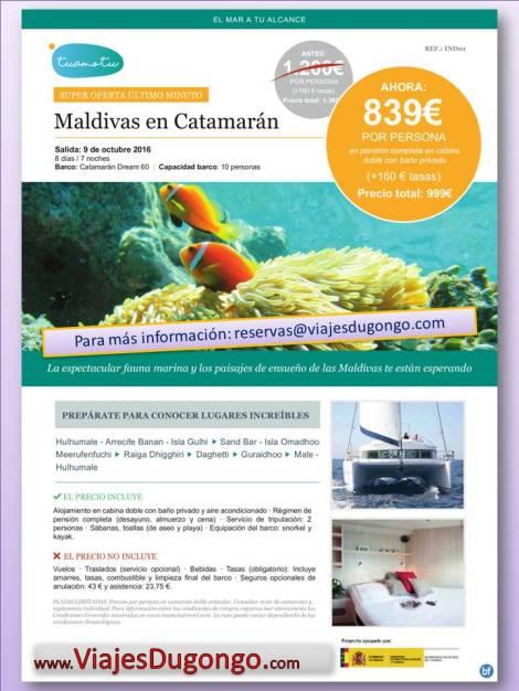 Viaje en Catamarán por Maldivas