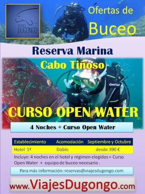 Curso de buceo en la Reserva Marina Cabo Tiñoso