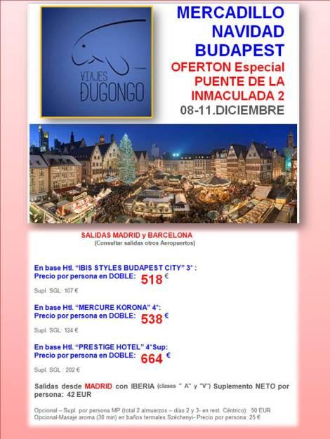 Mercadillo Navidad en Budapest