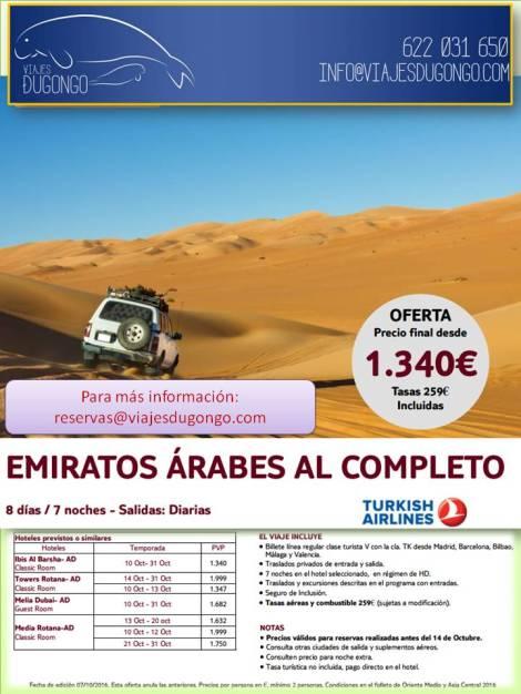 viaje Emiratos Árabes al completo