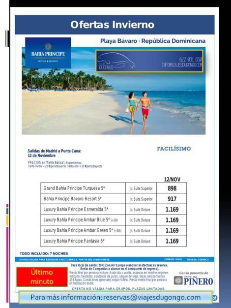 Oferta hoteles en playa Bávaro
