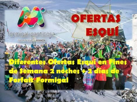 Ofertas Esquí Fines de Semana 2 noches + 2 días de Forfait Formigal