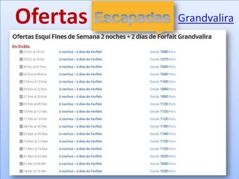 Ofertas Esquí Fines de Semana 2 noches + 2 días de Forfait Grandvalira