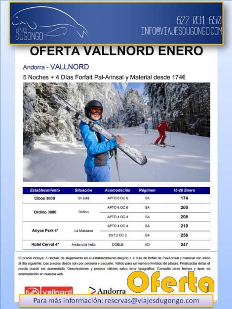 Diferentes ofertas de esquí en Vallnord
